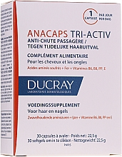 Parfémy, Parfumerie, kosmetika Doplněk stravy pro pokožku hlavy, vlasy a nehty - Ducray AnaCaps Tri-Activ Capsule