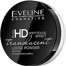 Parfémy, Parfumerie, kosmetika Fixační a matující sypký pudr s hedvábím - Eveline Cosmetics Full HD Soft Focus Translucent Loose Powder