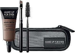 Parfémy, Parfumerie, kosmetika Sada - Make Up For Ever Aqua Brow Eyebrow Corrector Kit (corrector/7ml+brush/2pcs+bag) (15 -Light Brown)