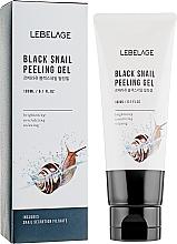Parfémy, Parfumerie, kosmetika Exfoliační čisticí gel s hlemýžďovým extraktem - Lebelage Black Snail Peeling Gel