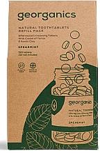 Parfémy, Parfumerie, kosmetika Ústní voda v tabletách Máta - Georganics Mouthwash Tablets Spearmint Refill Pack (náhraní náplň)