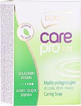 Parfémy, Parfumerie, kosmetika Mýdlo Aloe a Jojoba - Luksja Care Pro Aloe & Jojoba Cream Soap