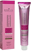Parfémy, Parfumerie, kosmetika Krémová barva na vlasy - Brelil Professional Prestige Tone On Tone