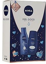 Parfémy, Parfumerie, kosmetika Sada - Nivea Feel Good (sh/gel/250ml + b/milk/250ml)
