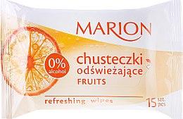 """Parfémy, Parfumerie, kosmetika Osvěžující ubrousky """"Fruits"""", 15ks - Marion"""