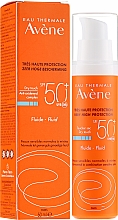 Parfémy, Parfumerie, kosmetika Opalovací fluid na obličej - Avene Eau Thermale Sun Care Fluid SPF50