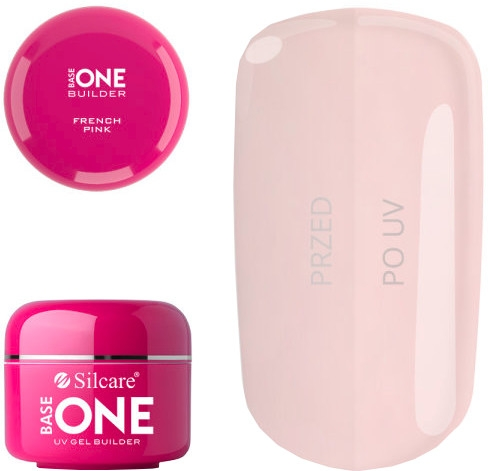 Gel na nehty - Silcare Uv Gel Builder Base One French Pink