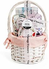 Parfémy, Parfumerie, kosmetika Sada - IDC Institute Vintage Flowers Basket (sh/g/160ml+b/lot/50ml+salt/100g+bomb/160ml)