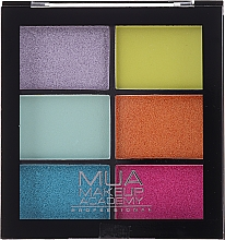 Parfémy, Parfumerie, kosmetika Paletka očních stínů - MUA Makeup Academy Professional 6 Shade Palette