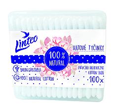 Parfémy, Parfumerie, kosmetika Vatové tyčinky, 100 ks. - Linteo Biodegradalne 100% Natural