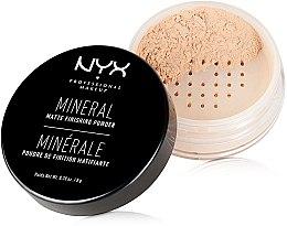 Parfémy, Parfumerie, kosmetika Minerální fixační pudr - NYX Professional Makeup Mineral Matte Finishing Powder