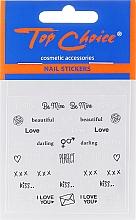 Parfémy, Parfumerie, kosmetika Samolepky na nehty, 42317, 6ks. - Top Choice Word Golds Silver