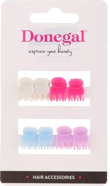 Skřipec na vlasy FA-9917, Mini Mix, různobarevný, 8 ks - Donegal Hair Clip — foto N1