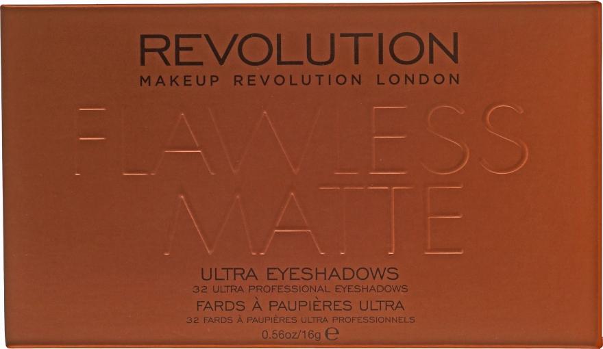 Paleta očních stínů, 32 odstínů - Makeup Revolution Ultra 32 Shade Palette Flawless Matte — foto N3