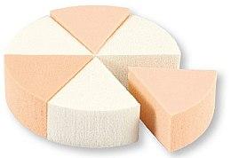 Parfémy, Parfumerie, kosmetika Houbičky na líčení, 35821, bílé a béžové, 6 ks - Top Choice Foundation Sponges