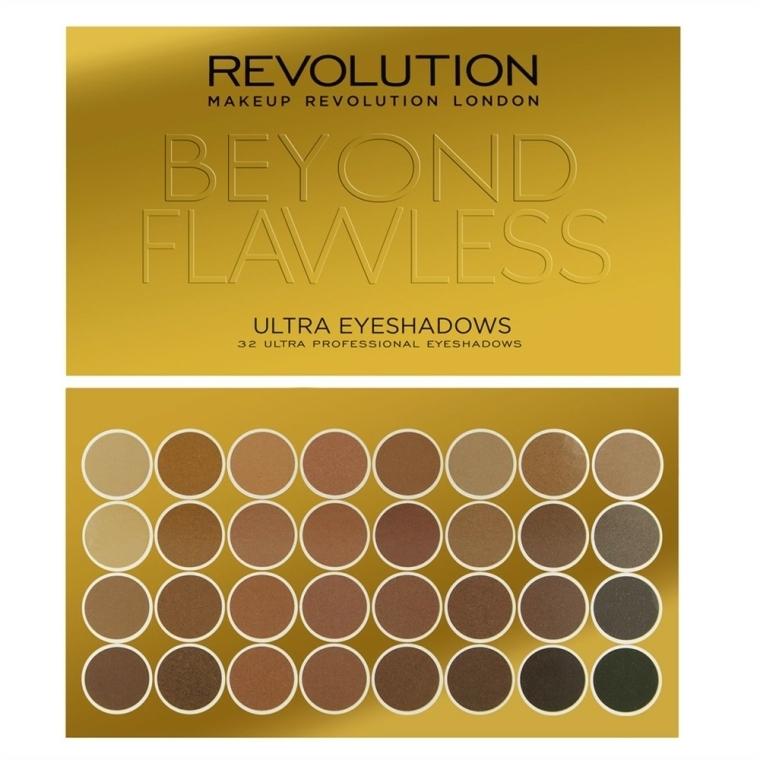 Paleta očních stínů, 32 odstínů - Makeup Revolution Ultra 32 Shade Palette Beyond Flawless — foto N1