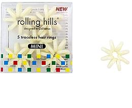 Parfémy, Parfumerie, kosmetika Gumička do vlasů, béžová - Rolling Hills Traceless Hair Rings Mini Beige