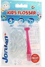 Parfémy, Parfumerie, kosmetika Sada - Jordan Kids Flosser (floss/1szt+refils/36szt), růžový