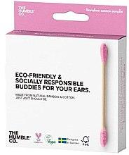 Parfémy, Parfumerie, kosmetika Bambusové vatové tyčinky - The Humble Co. Cotton Swabs Pink