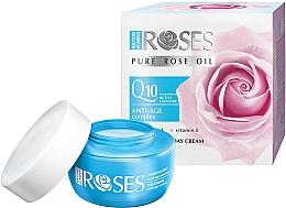 Parfémy, Parfumerie, kosmetika Denní pleťový krém proti vráskám - Nature of Agiva Roses Pure Rose Oil Anti-Age Complex Q10 Anti-Wrinkle Day Cream