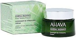 Parfémy, Parfumerie, kosmetika Minerální noční krém na obličej - Ahava Mineral Radiance Overnight De-Stressing Cream