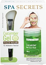Parfémy, Parfumerie, kosmetika Sada - Spa Secrets Cucumber Gel Face Mask (mask/140ml + brush/mask/1pcs)