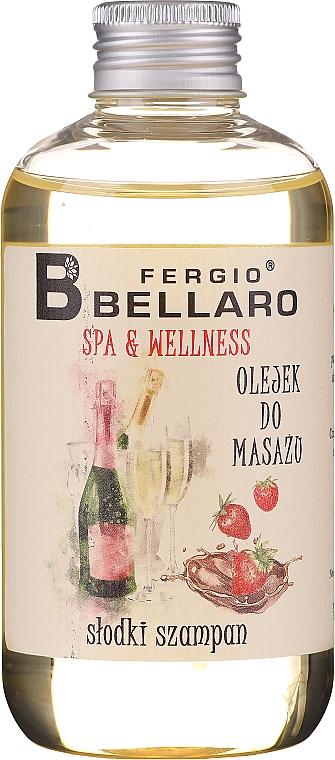Masážní olej Šampaňské - Fergio Bellaro Massage Oil Sweet Champagne