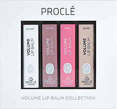 Parfémy, Parfumerie, kosmetika Sada rtěnek, zvětšujících objem rtů - Procle Volume Lip Balm (lip/balm/3.5g x 4)
