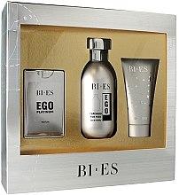 Parfémy, Parfumerie, kosmetika Bi-Es Ego Platinum - Sada (edt/100ml + edp/15ml + sh/gel/50ml)