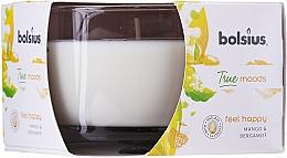 "Parfémy, Parfumerie, kosmetika Vonná svíčka ve sklenici ""Mango a bergamot"", 63/90 mm - Bolsius True Moods Candle"