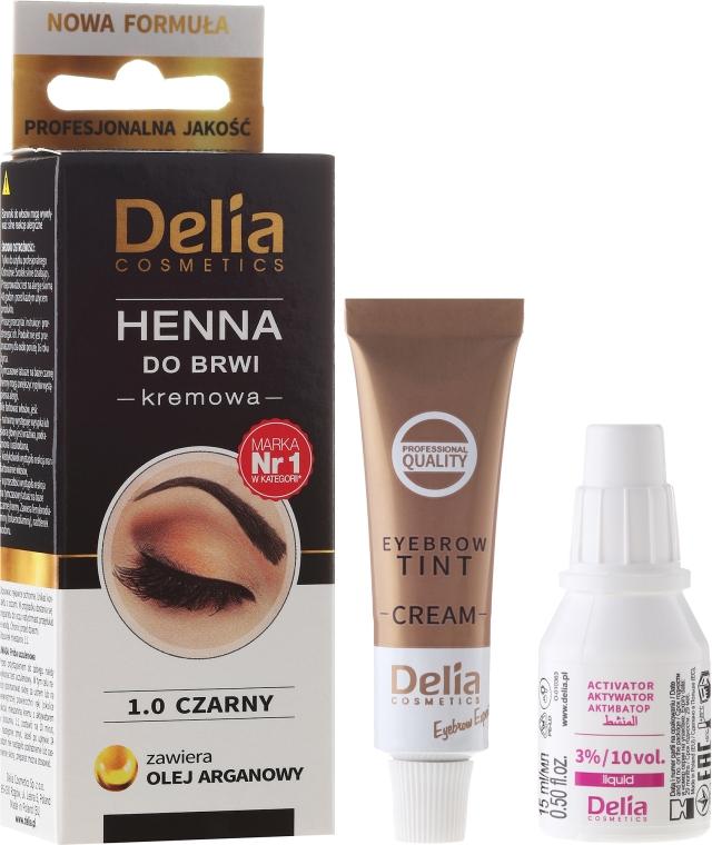 Krémová barva na obočí - Delia Cosmetics Cream Eyebrow Dye