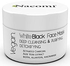 Parfémy, Parfumerie, kosmetika Černobílá maska na obličej s aktivovaným uhlím - Nacomi White & Black Face Mask