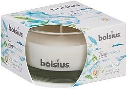 "Parfémy, Parfumerie, kosmetika Vonná svíčka ve sklenici ""Bílý čaj a lístky máty"", 50/80 mm - Bolsius True Moods Candle"