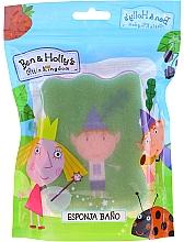 """Parfémy, Parfumerie, kosmetika Dětská koupelová houba """"Ben a Holly"""", Ben, zeleno-růžová - Suavipiel Ben & Holly Bath Sponge"""