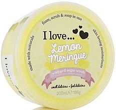 Parfémy, Parfumerie, kosmetika Cukrový tělový peeling - I Love... Lemon Meringue Whipped Sugar Scrub