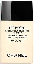 Parfémy, Parfumerie, kosmetika Hydratační tónovací fluid s efektem přirozeného lesku - Chanel Les Beiges Sheer Healthy Glow SPF 30/PA++