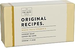 Parfémy, Parfumerie, kosmetika Mýdlo Bílý čaj a vitamín E - Scottish Fine Soaps Original Recipes White Tea & Vitamin E Luxury Soap Bar