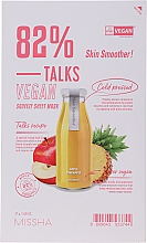 Parfémy, Parfumerie, kosmetika Látková maska - Missha Talks Vegan Squeeze Sheet Mask Skin Smoother