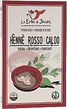 Parfémy, Parfumerie, kosmetika Prášek na vlasy Rosso Caldo - Le Erbe di Janas Red Henna Hot Shades
