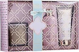 Parfémy, Parfumerie, kosmetika Sada - Baylis & Harding Pink Prosecco & Elderflower (sh/gel/300ml + b/lot/200ml + candle/200g)