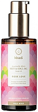 Parfémy, Parfumerie, kosmetika Ajurvédský tělový elixír olej  - Khadi Ayurvedic Elixir Skin & Soul Oil Rose Love