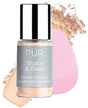 Parfémy, Parfumerie, kosmetika Korektor - Pur Shake & Bake Powder-to-Cream Under Eye Concealer