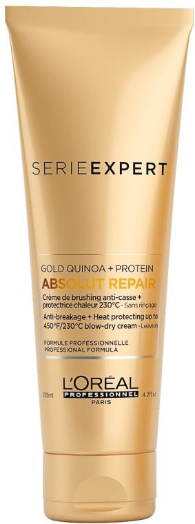 Termoochranný krém pro velmi poškozené vlasy - L'Oreal Professionnel Absolut Repair Gold Qunoa+Protein Crema — foto N1