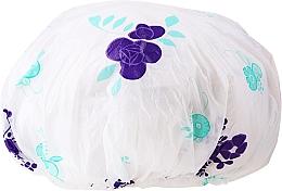 Parfémy, Parfumerie, kosmetika Sprchová čepice, 9298, bílo-fialová - Donegal Shower Cap