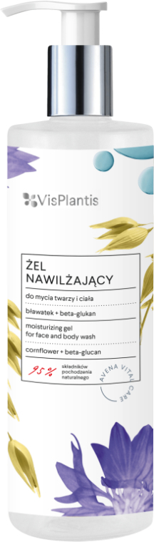 Čisticí gel na tělo a obličej - Vis Plantis Avena Vital Care Moisturizing Gel For Face And Body Wash