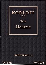 Parfémy, Parfumerie, kosmetika Korloff Paris Pour Homme - Parfémovaná voda (vzorek)