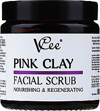 Parfémy, Parfumerie, kosmetika Pleťový peeling s růžovým jílem - VCee Pink Clay Facial Scrub Nourishing&Regenerating