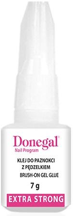 Lepidlo na umělé nehty - Donegal Brush-On Gel Glue Extra Strong
