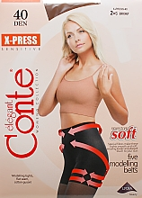 Parfémy, Parfumerie, kosmetika Punčocháče X-press 40 Den, bronz - Conte
