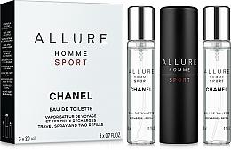 Parfémy, Parfumerie, kosmetika Chanel Allure homme Sport - Sada (edt/20ml + refill/2x20ml)